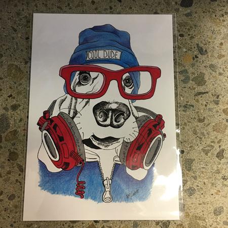 Cool Dude Dog - Prints