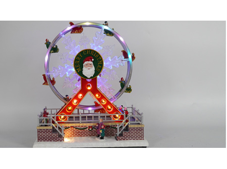 Cool LED Christmas Ferris Wheel with music