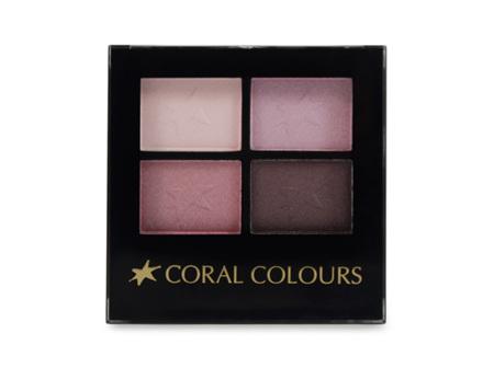 Coral Colours Eyeshadow Quartet B/ Wine