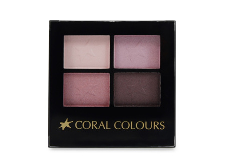 Coral Colours Eyeshadow Quartet Berry Wine