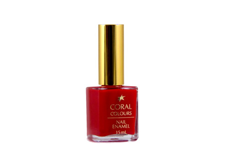 Coral Colours Nail Enamel Range Midnight Red
