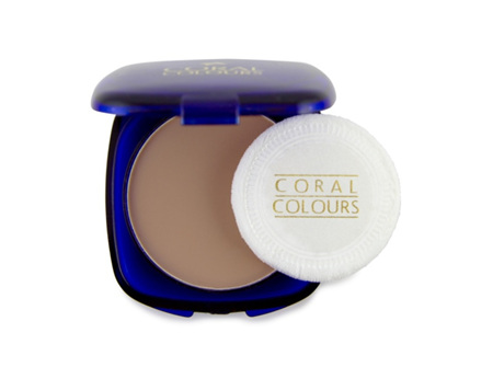 Coral Colours Pressed Powder Compact Soft Sand