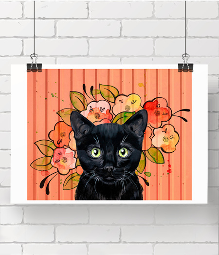Coral Kitty - limited printed