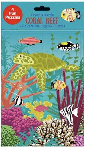 Roger La Borde Design Coral Reef 24 Piece Jigsaw Puzzle
