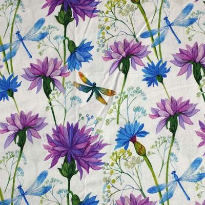 Cornflowers & Dragonflies Poplin 150cm
