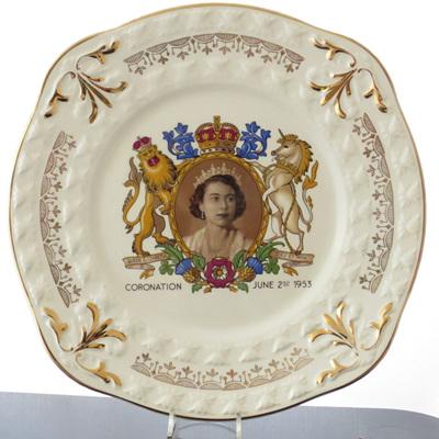Coronation plate