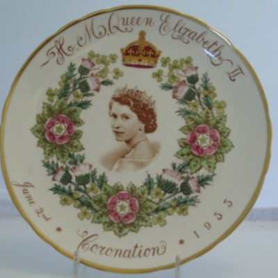 Coronation plate by Tuscan