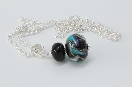 Cosmic pendant - aqua/purple