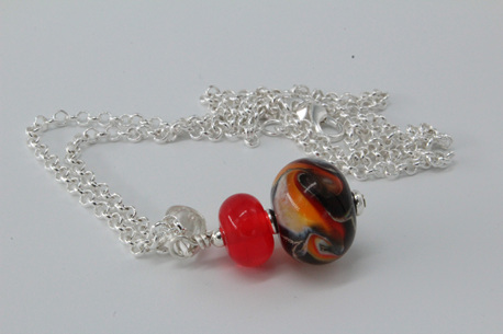 Cosmic pendant - orange