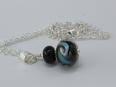 Cosmic pendant - pale blue/purple
