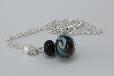 Cosmic pendant - pale blue/purple