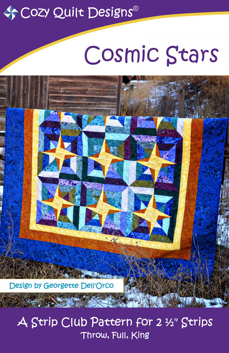 Cosmic Stars Quilt Pattern from Cozy Quilt Designs
