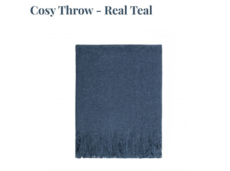 Cosy Throw - Real Teal