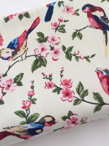 Cot Duvet - Swallows (cream)