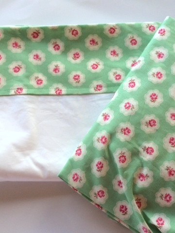 Cot Sheet Set - Petite Rose Green