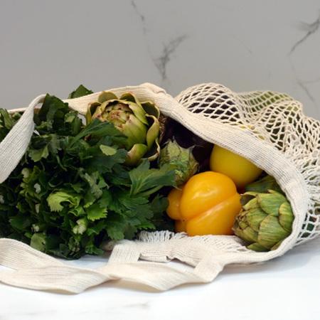 Cotton Mesh Carry Bag (Short Handle)