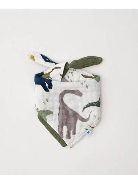 Cotton Muslin Bandana Bib Reversible - Dino Friends