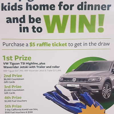 Countdown Kids Hospital Appeal Raffle Ticket