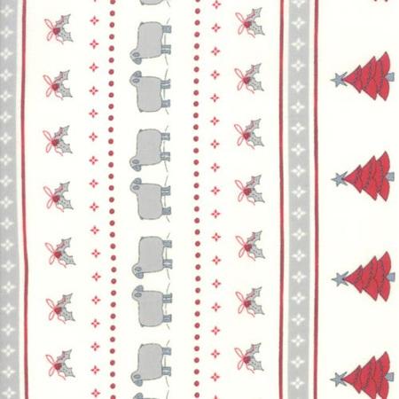 Country Christmas Christmas Stripe Winter White 2960-11