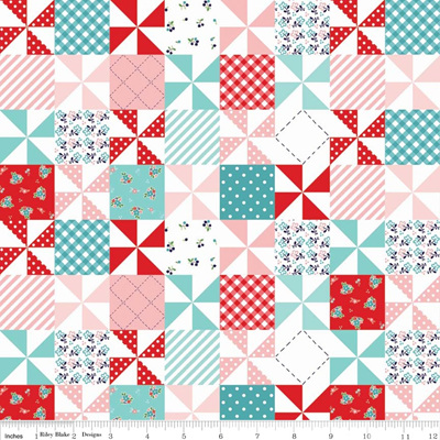 Country Girls - Patchwork Aqua
