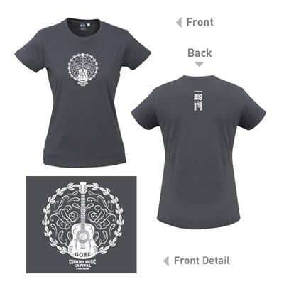 Country Music Grey Ladies T-Shirt
