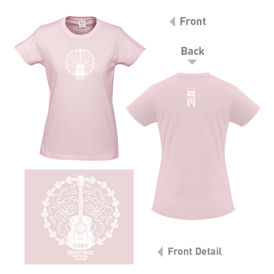 Country Music Tee in Blush