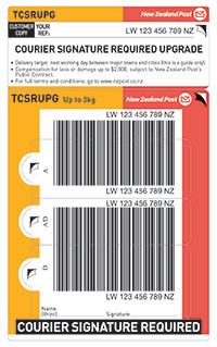 Courier signature upgrade ticket