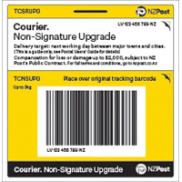 Courier upgrade sticker - small parcels only