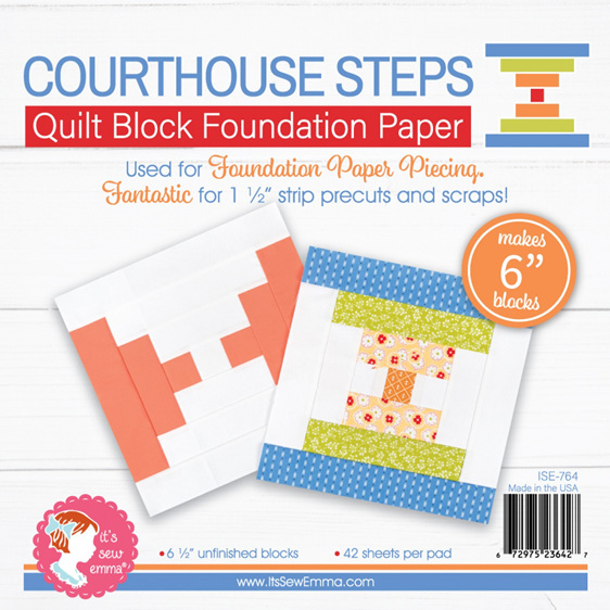 Courthouse Steps 6in Quilt Block Foundation Paper