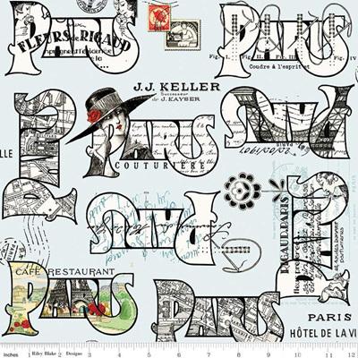 Couturiere Parisienne Cartes Postales Blue
