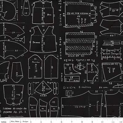 Couturiere Parisienne Patrons Texture Black