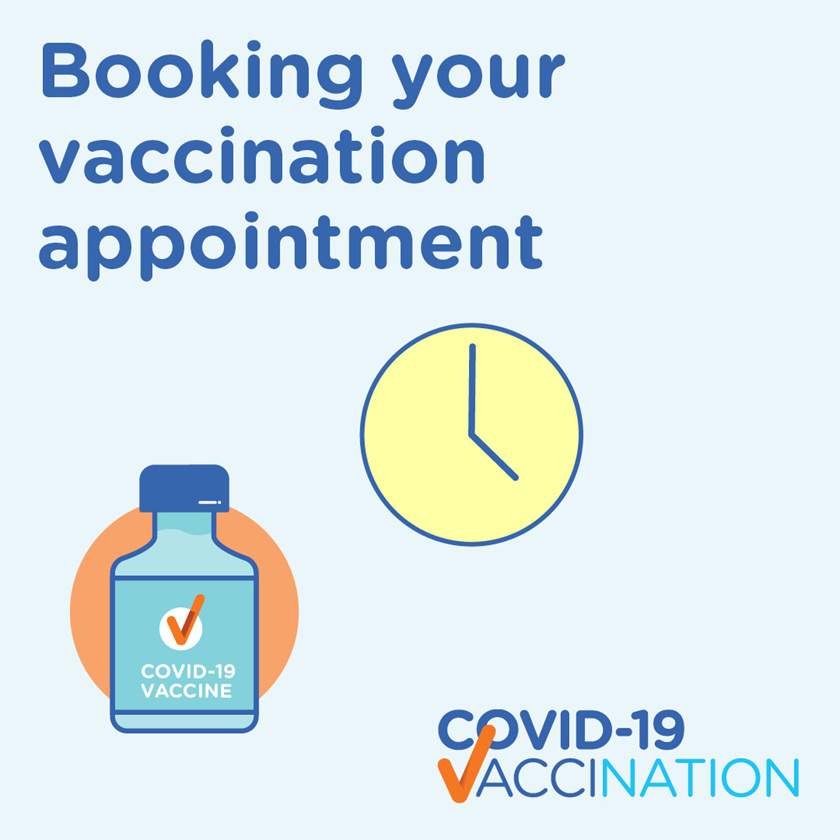 Book your FREE COVID-19  Vaccination