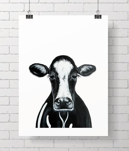 cow - black