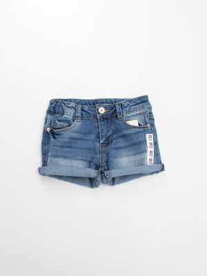 Cow Boy/Girl Denim Shorts