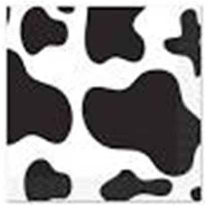 Cow print napkins