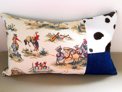 Cowboy Cushion with Feather Inner