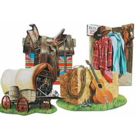 Cowboy cutouts x 4
