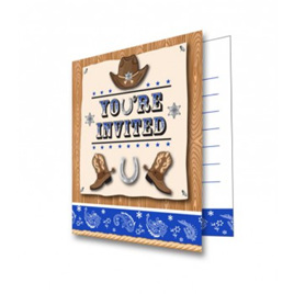 Cowboy invites pack 8