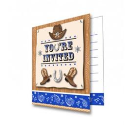Cowboy invites pack 8