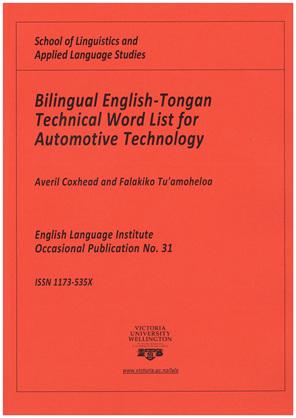 Coxhead Bilingual Automotive Technology List