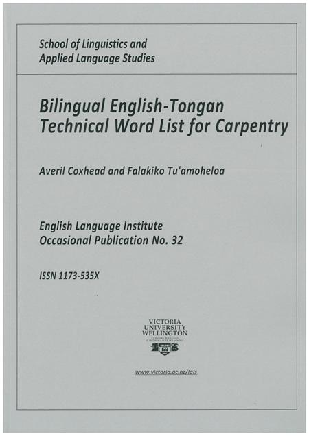 Coxhead Bilingual Carpentry List