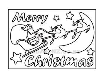 CP11 - Christmas Santa Driving Sleigh