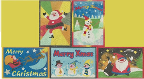 CPS01 - Set of 5 Santa Cards