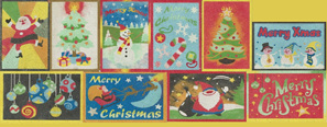 CPS10 - Set of 10 Christmas Postcards