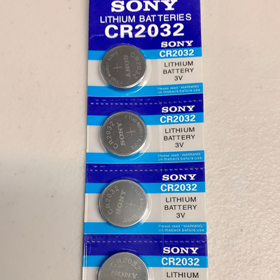 CR2032 Sony Lithium Button Battery Pack - 5 Pieces