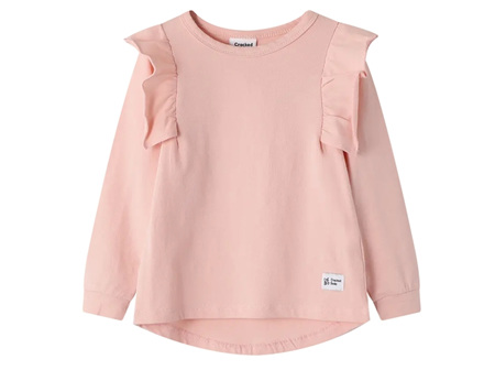 CRACKED Soda Piper Frill Top Dusty Pink Sizes 3-8