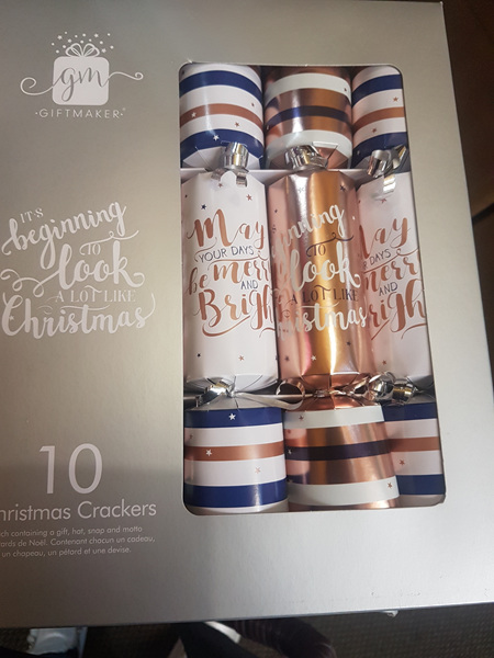 Crackers - 10 pack rose gold & navy blue