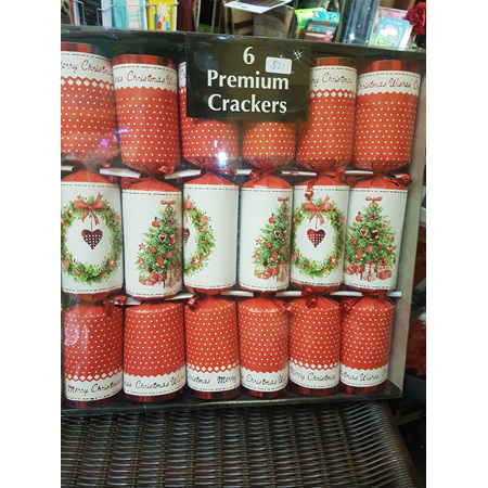 Crackers - 6 pack red & white