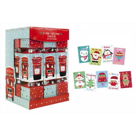 Crackers - 9 mini with stickers, post box design.