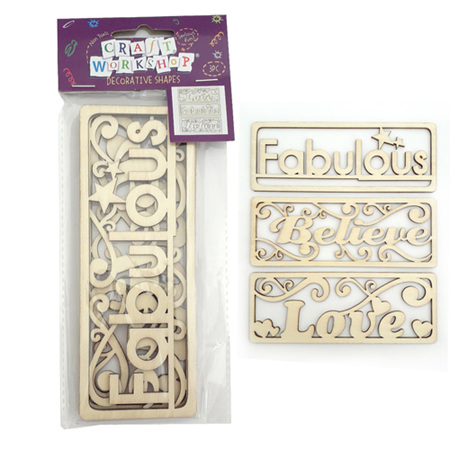 Craft Positivity Shapes - Fabulous, Love and Believe